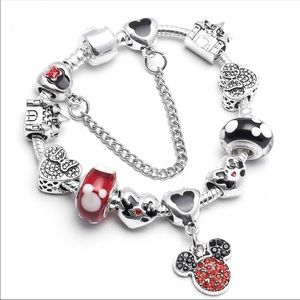 New 20cm Bling Mickey Mouse Charm Bracelet